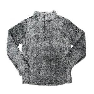 Ladies 1/4 Sherpa Pullover - Frosted Charcoal